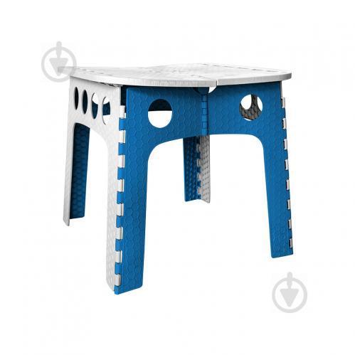 Стіл розкладний Stark 50 см сірий з синім