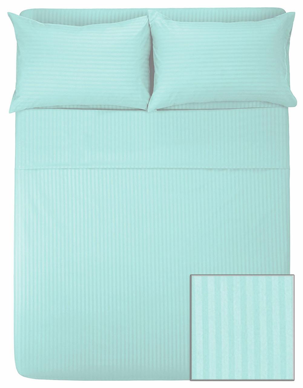 Комплект постельного белья САТИН-СТРАЙП (мята, 100% хлопок)