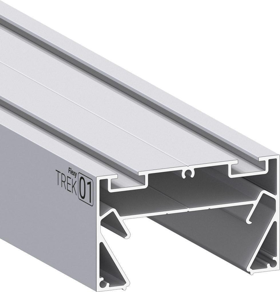 Профіль алюмінієвий для натяжних стель ПФ8049 «Трек-світлова лінія 34мм»