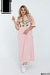 Женское платье макси свободного кроя с капюшоном хлопковое размеры: 48-62, фото 5