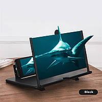 """Подставка-увеличитель экрана телефона 3D MING 10"""" черный"""