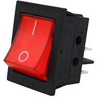 IRS-201-3C3 ON-OFF, 4pin, 12V, 35А, Переключатель с подсветкой красный IRS-201-1A