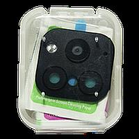 Защитное стекло для камеры iPhone 10 to11 TYPE 2 черный