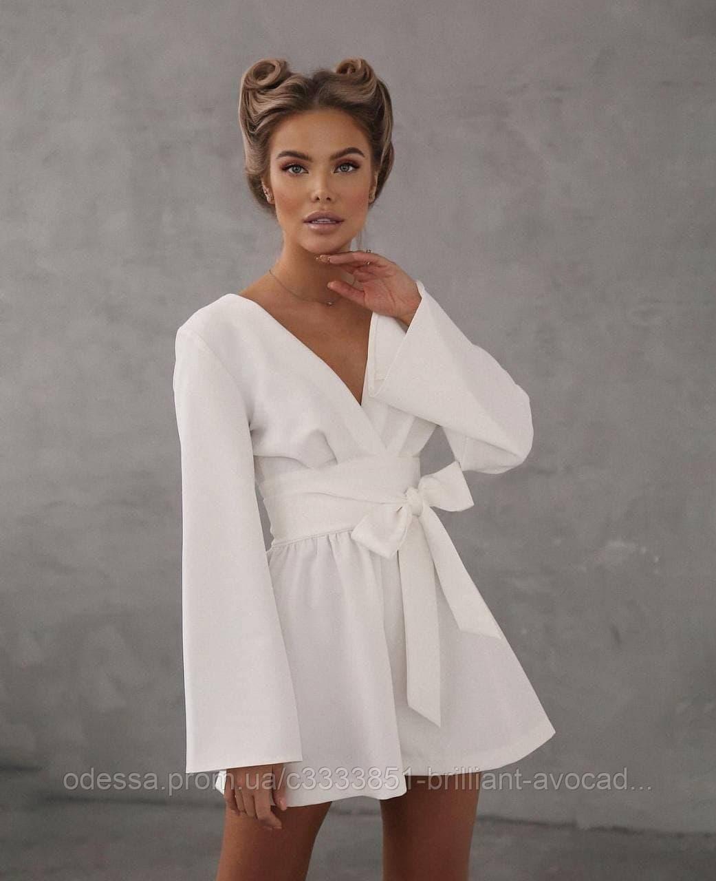 Женский модный летний нарядный комбинезон с шортами