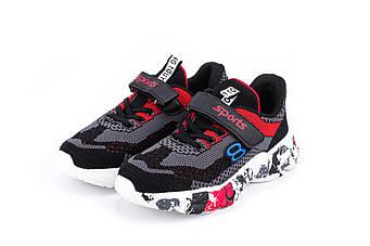 Кросівки ERRA A-1-3BLACK-GRAY-RED, Черный с серым, 34