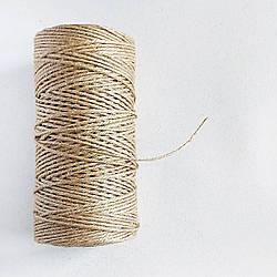 Шпагат джутовый полированный 300 г - 195 м 2.5 мм, 3 нити