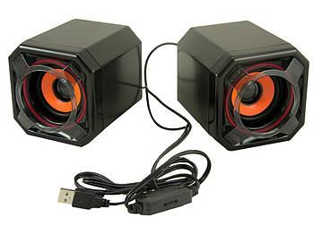 Комп'ютерні колонки акустика 2.0 UKC USB A8 (3718)