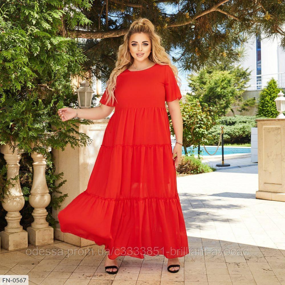 Красиве жіноче батальне літній шифонова , великий розмір 50 52 54 56 58 60 62 64