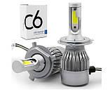 Світлодіодні лампи, комплект. LED H7, 8000LM. 9-32V/ Гарнатия, фото 4