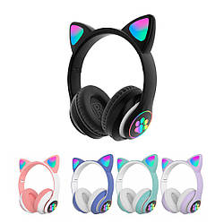 Бездротові навушники з котячими вушками CAT STN-28 безпровідні навушники з мікрофоном (Чорний)