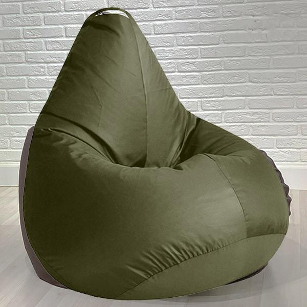 Бескаркасное кресло мешок груша для детей и взрослых Kospa хаки 85х65