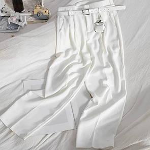 Женские брюки с ремнем Белые