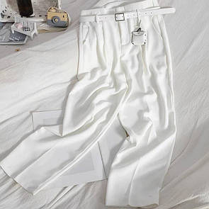Жіночі штани з ременем Білі