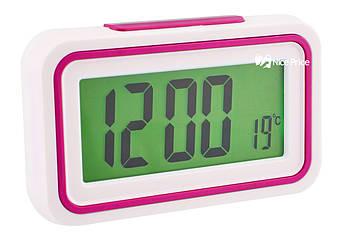 Будильник, голосовий годинник KENKO 9905 TR Білий/Рожевий