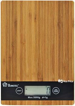 Електронні кухонні дерев'яні ваги на 5 кг Domotec MS-A (4671)