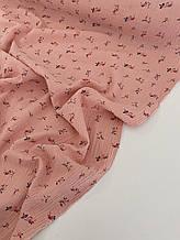 Муслин (хлопковая ткань) ирис на персике