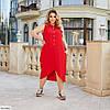 Красиве жіноче батальне літній ошатне плаття , великий розмір 50 52 54 56 58 60, фото 8