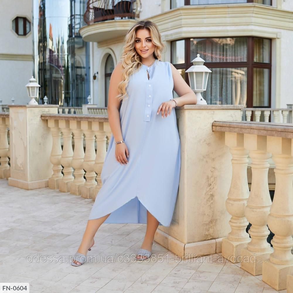 Красиве жіноче батальне літній ошатне плаття , великий розмір 50 52 54 56 58 60