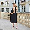 Женское красивое батальное летнее нарядное платье , большой размер 50 52 54 56 58 60, фото 3