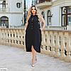 Красиве жіноче батальне літній ошатне плаття , великий розмір 50 52 54 56 58 60, фото 4