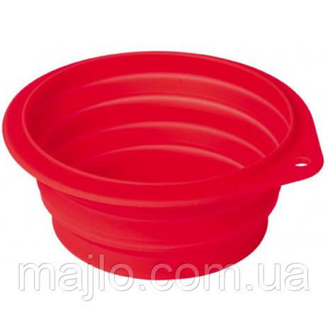 Миска CROCI силікон, дорожня 1 л (11721) червона