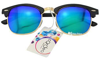 Сонцезахисні окуляри Clubmaster RB6703 С-3 55-17-135 Синьо-зелені