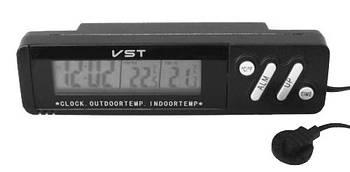 Годинник з внутрішнім і зовнішнім датчиком температури VST-7067 (1236)