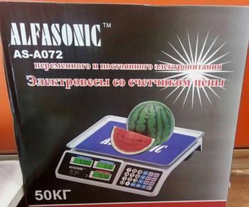 Ваги торгові ALFASONIC AS-A072 50кг