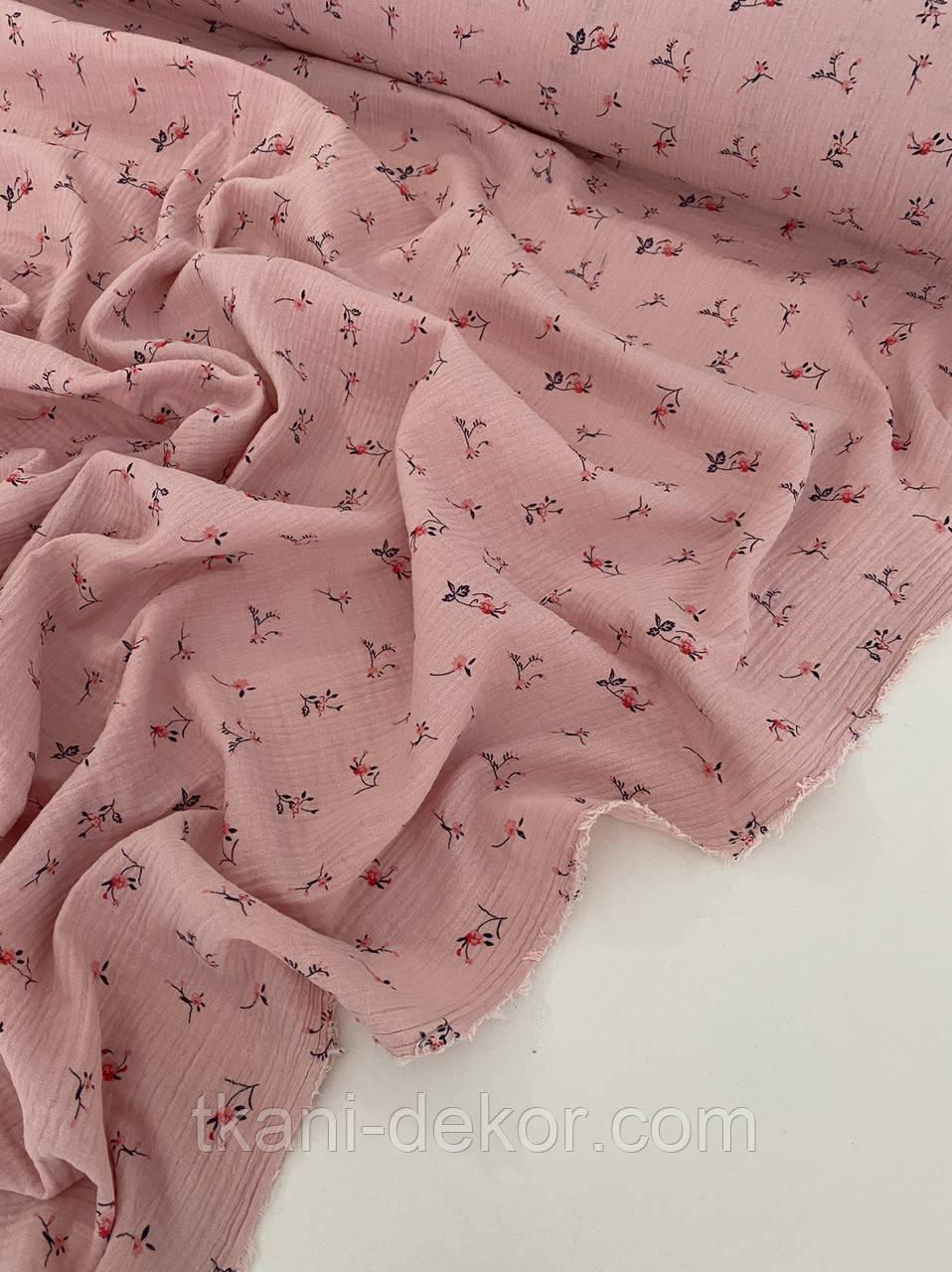 Муслін (бавовняна тканина) ірис на розі