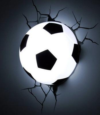 Нічник 3D football light світильник футбольний м'яч
