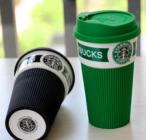 Керамічна термокружка Starbucks Старбакс