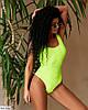 Жіночий яскравий літній злитий, відрядний купальник, фото 5