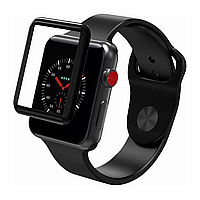 Защитное стекло для Apple Watch 3 series Softedge FullGlue 38 mm черный
