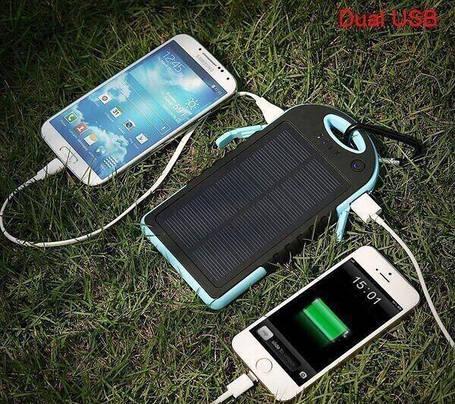Power Bank Повер банк + мощный фонарь+зарядка от солнца, фото 2