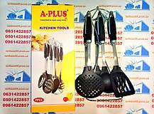 Кухонний набір A Plus з 7 предметів з антипригарним покриттям. Лопатки для кухні, фото 2