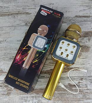 Безпровідний мікрофон для караоке WS-1818 з функцією зміни голосу. Bluetooth мікрофон1