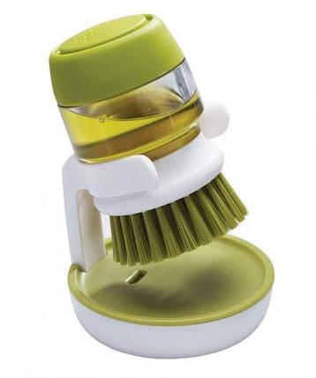 Щётка для мытья с дозатором для жидкого мыла Jesopb, фото 2