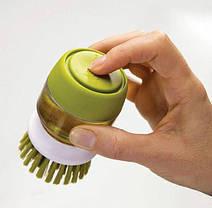 Щётка для мытья с дозатором для жидкого мыла Jesopb, фото 3