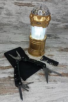Багатофункціональний ніж мультитул-плоскогубці (728) в комплекті з LED лампою з ефектом вогню і дискошаром1