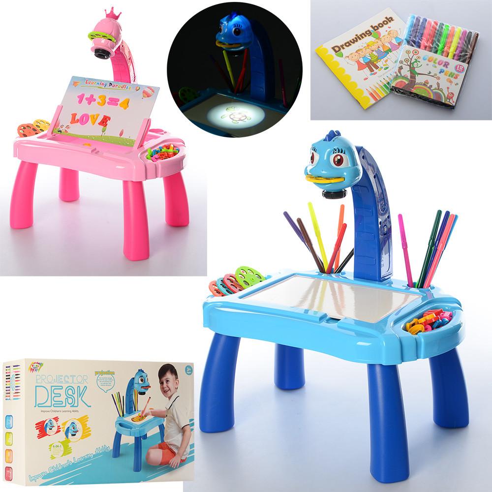 Детский мольберт  3 в 1 столик, проектор