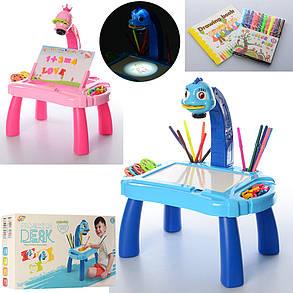 Детский мольберт  3 в 1 столик, проектор, фото 2