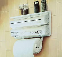Кухонний тримач Triple Paper Dispenser 4 в 1, фото 2