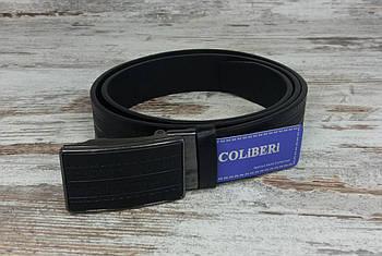 Якісний чоловічий брючний ремінь COLIBERI 115 см класика, міцний оригінальний модний ремінь із замінника1