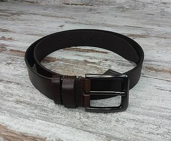 Якісний шкіряний чоловічий джинсовий ремінь коричневий 40 мм, міцний оригінальний модний ремінь1