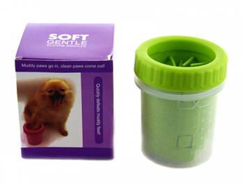 Стакан для миття лап улюбленим вихованцям Soft pet foot cleaner, лапомойка для собак
