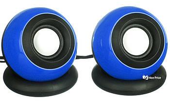 Комп'ютерні колонки акустика USB 2.0 D008 Blue (3245)