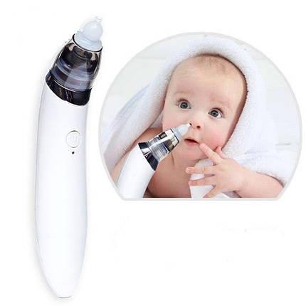 Аспіратор електронний назальний Infant electric nasal absorber БІЛИЙ, фото 2