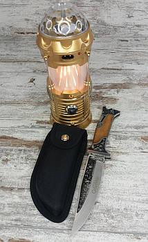 LED лампа з ефектом вогню і дискошаром SX-6888T в комплекті зі складним мисливським ножем Colunbia1
