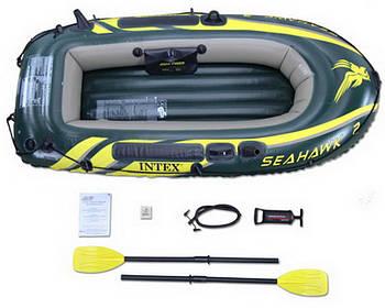 Intex надувний човен 68347 SeaHawk 2 Двомісна