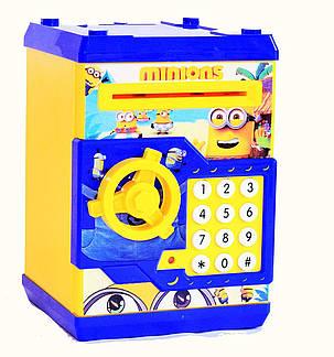 Детская копилка сейф с купюроприёмником Миньон, фото 2